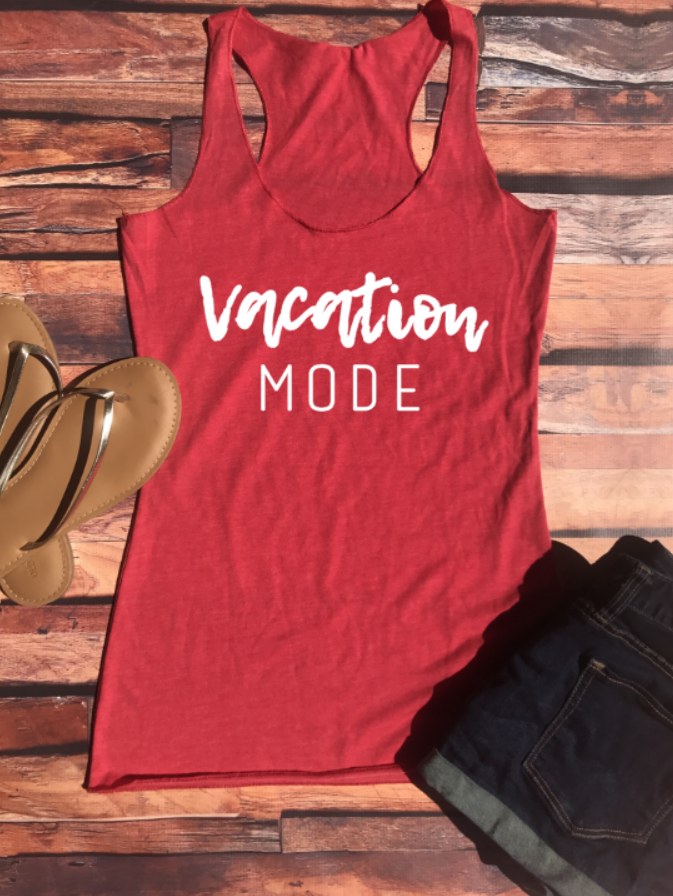 Vacation Mode Racerback Tank