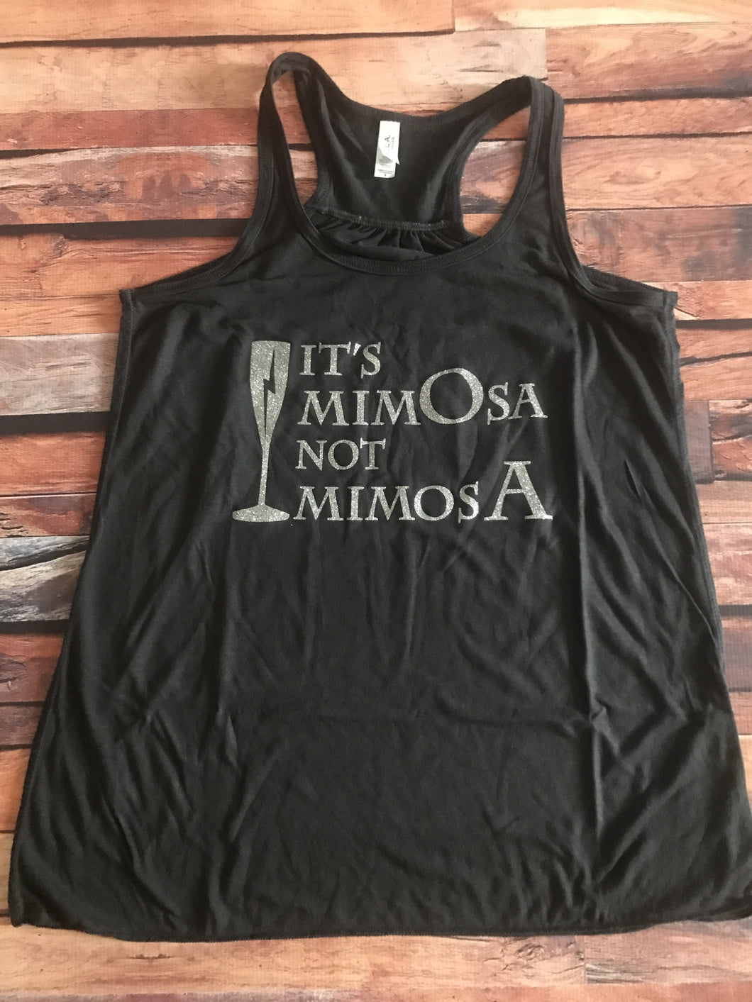 Small It's Mimosa Not Mimosa Women's Flowy Racerback