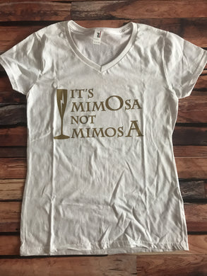 Small It's Mimosa Not Mimosa Women's V-Neck