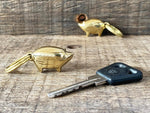 Load image into Gallery viewer, Brass Pig Keyring