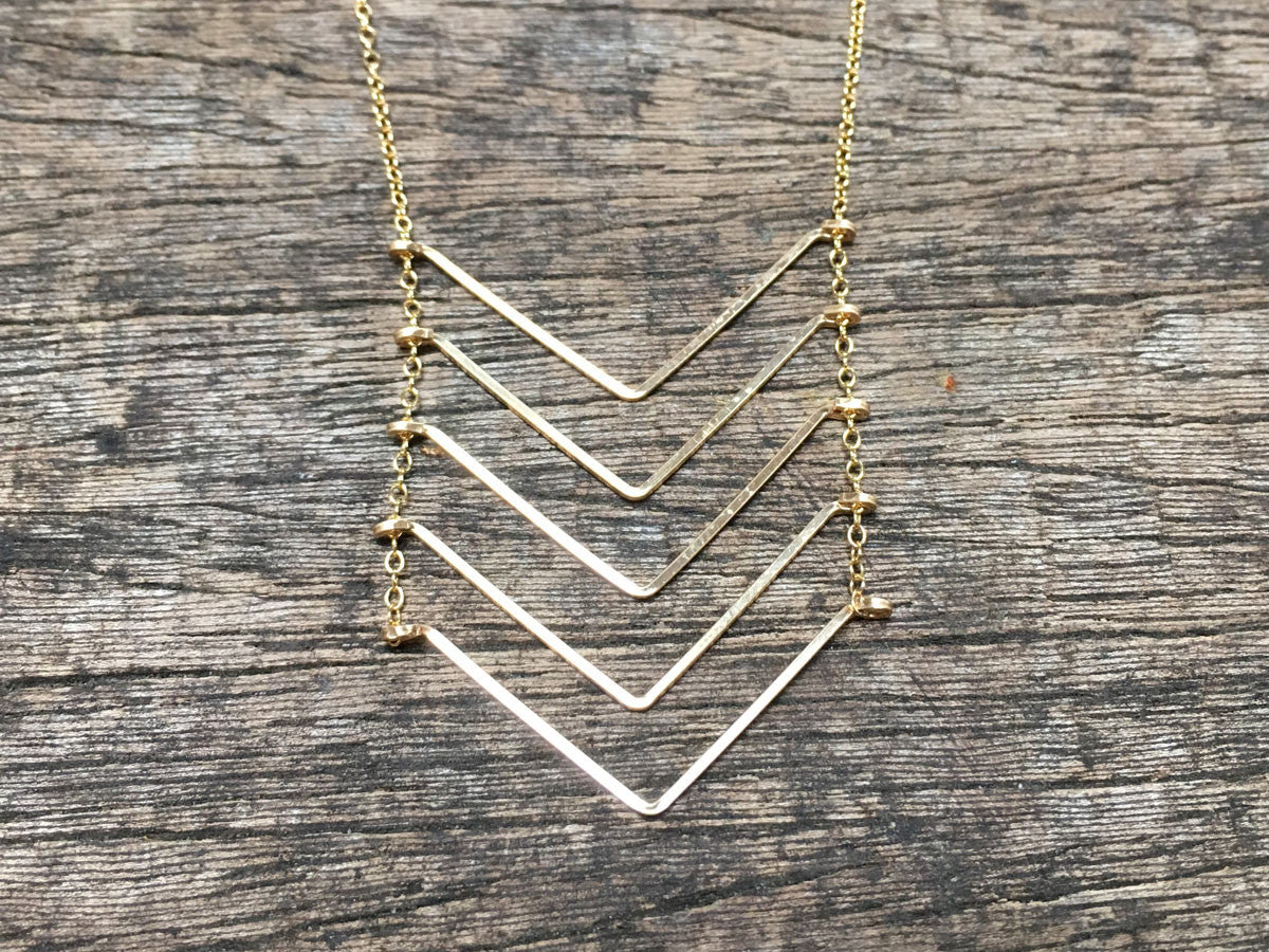 Floating Chevron Necklace