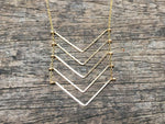 Load image into Gallery viewer, Floating Chevron Necklace