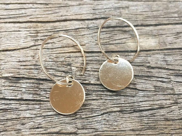 Shiny Coin Earrings