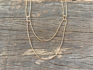 Double Box-chain Necklace