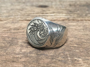 Great Wave Signet Ring