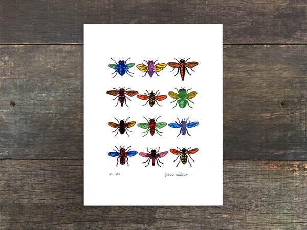 Flies Mini Print