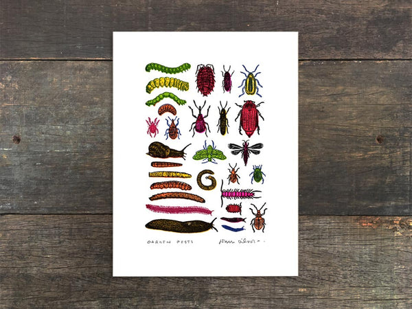 Garden Pests Mini Prints