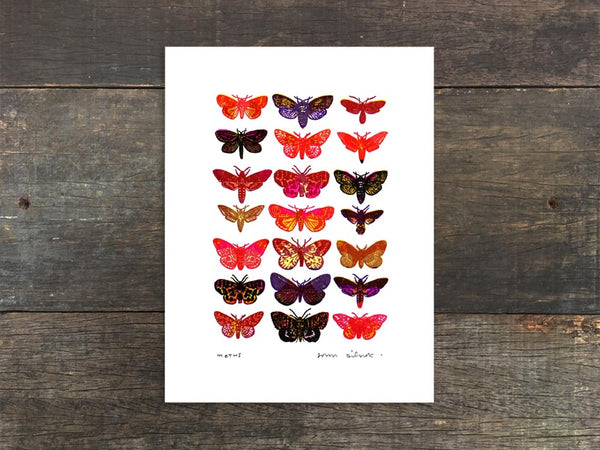Moths Mini Prints
