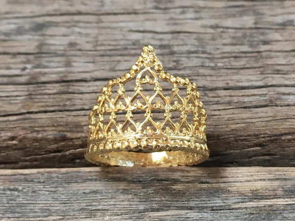 Filigree Crown Ring