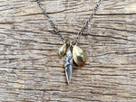 Load image into Gallery viewer, Bud & Seed Charm Necklace