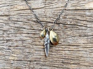 Bud & Seed Charm Necklace