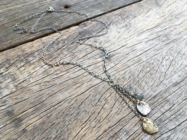 Double Fishbone Necklace