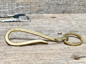Hammered Brass Belt Key Hook