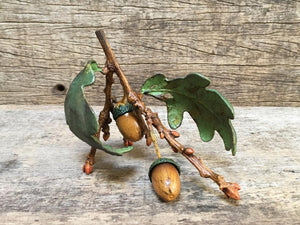 Acorn Twig with Leaves