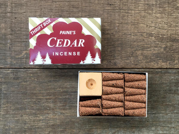 Cedar Incense Cones
