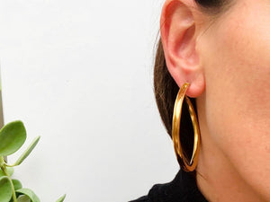 Shaped Hoop Earring, Large