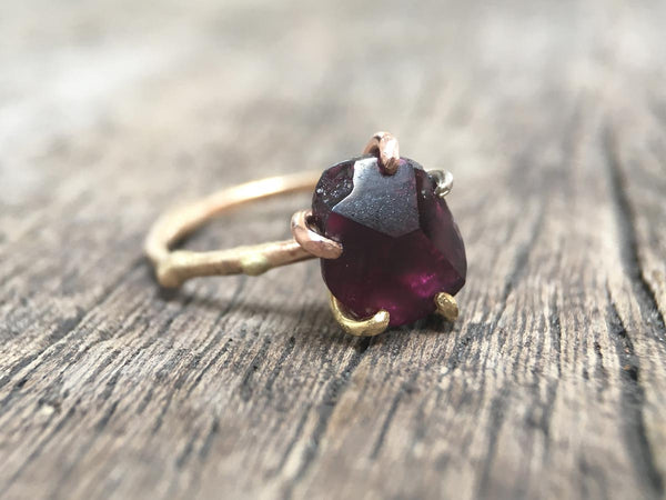 Idaho Garnet Ring