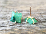 Load image into Gallery viewer, Peruvian Gem Silica Gold Studs