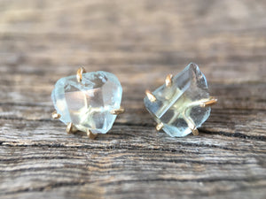 Aquamarine Gold Studs