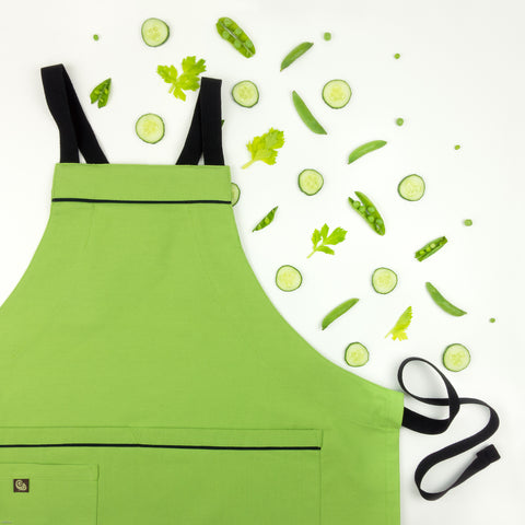 light green apron