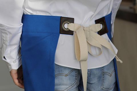The Blackshaw short bistro straps are perfect, with plenty of space to tie a pretty bow, even for a boy