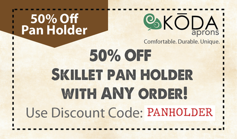 50 percent off on leather frying pan holder with any purchase coupon