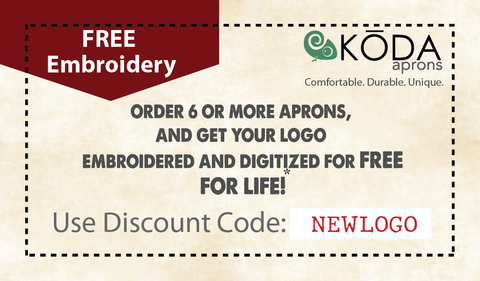 Free embroidery coupon