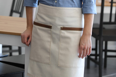 the waistband of the Hawthorn apron is perfect, comfy and strait cut