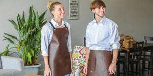 Koda Tanoak Full-Leather Aprons
