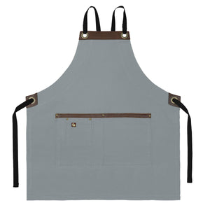 Koda Blackshaw Full Bib Apron (Light Grey)