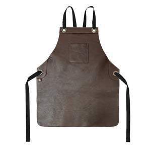 Koda Tanoak Full-Leather Bib Apron