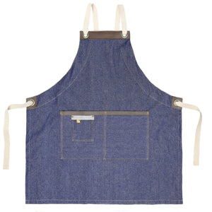 Koda Blackshaw Full Bib Apron (Denim)