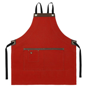 Koda Blackshaw Full Bib Apron (Red)