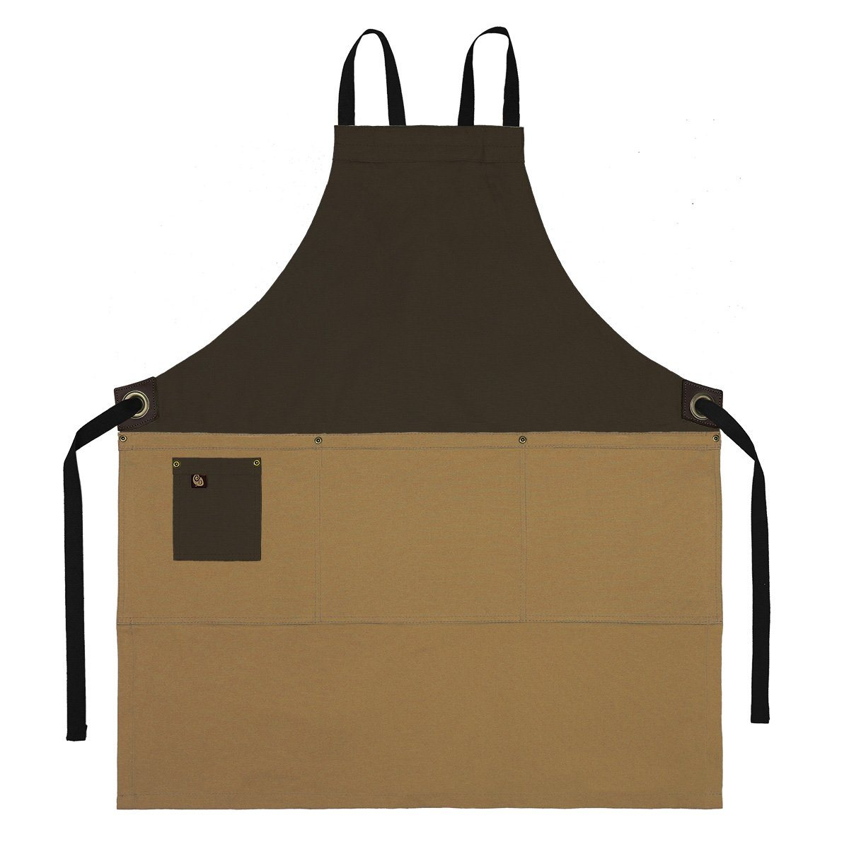 Koda Zelkova Full Bib Apron (Tobacco and Caramel)