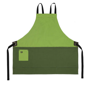 Koda Zelkova Short Bib Apron (Avocado and Fern)