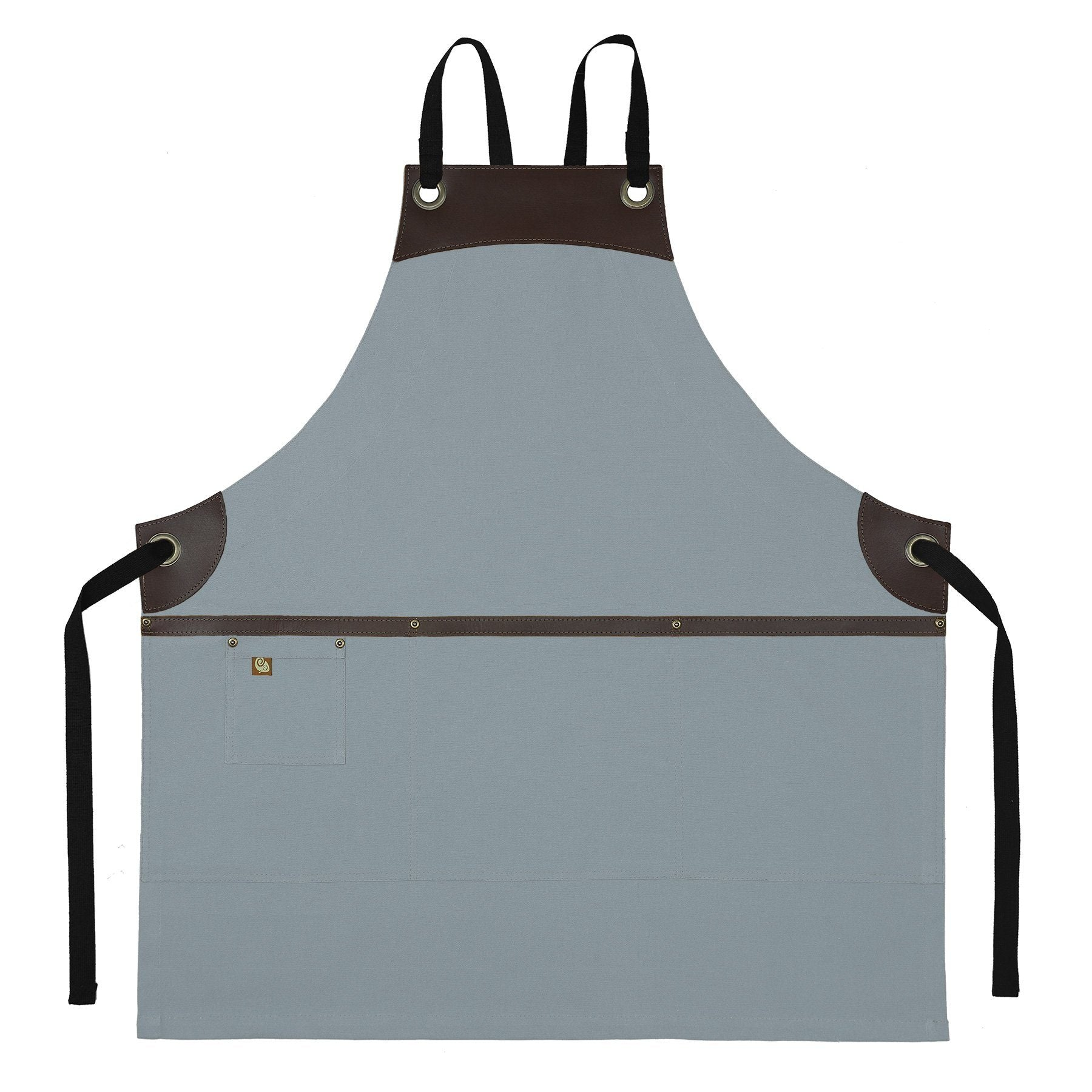 Koda Wescott Full Bib Apron (Light Grey)