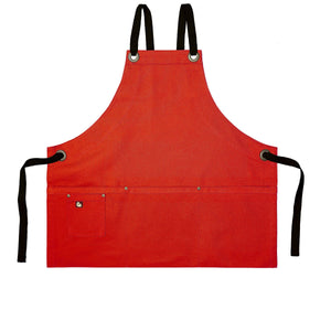 Koda Stilwell Fold-Up Bib Apron (Red)