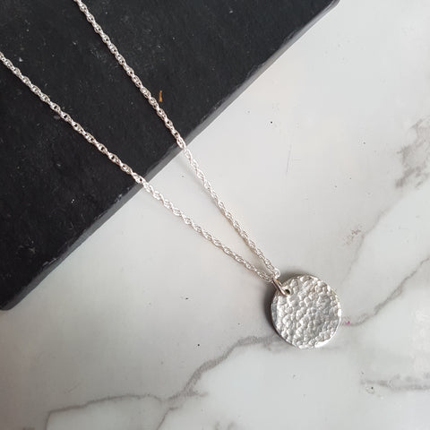 Hammered Disc Pendant