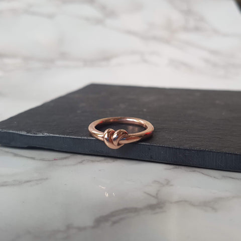 Rose Gold Plated Knot Ring