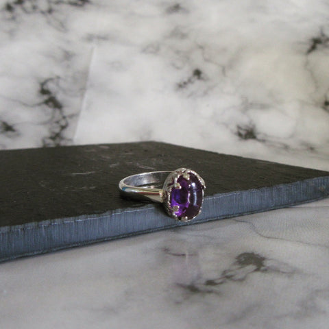 Filagree Amethyst Ring