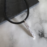 Gents Hammered Bar Necklace
