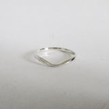 Silver Wishbone Ring