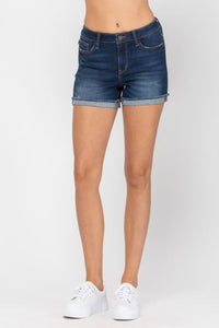 Judy Blue Dark Cuffed Hem Shorts