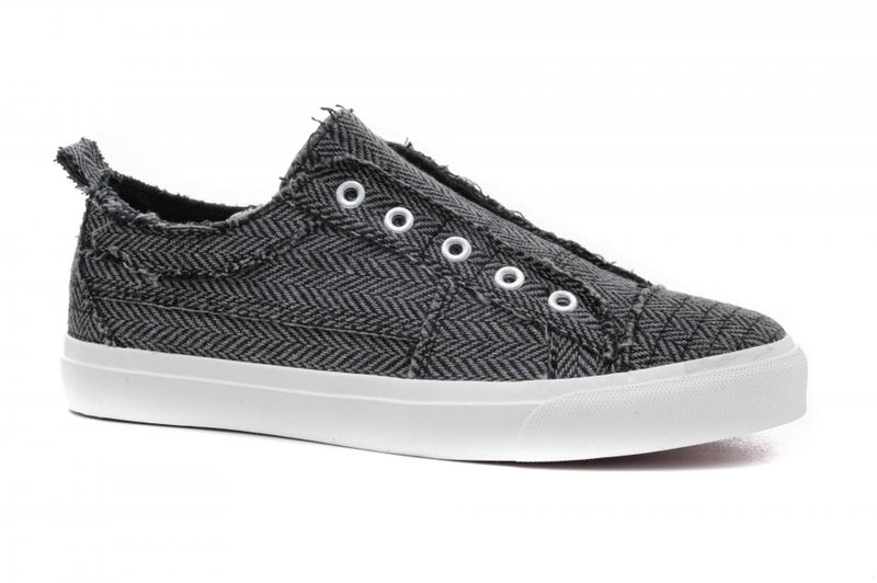 Corkys Babalu Black/Grey Herringbone