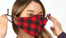 Load image into Gallery viewer, Buffalo Plaid Adult Mask
