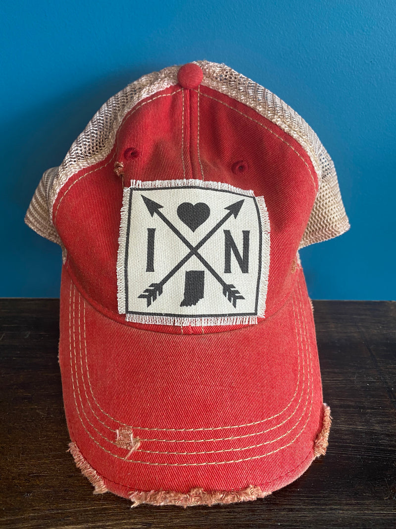 Indiana Arrows Distressed Trucker Hat