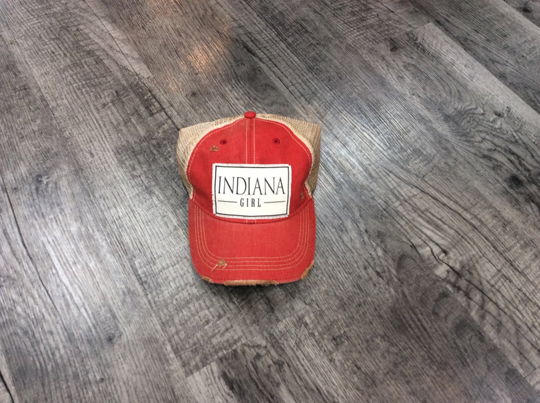 Indiana Girl Red Cap