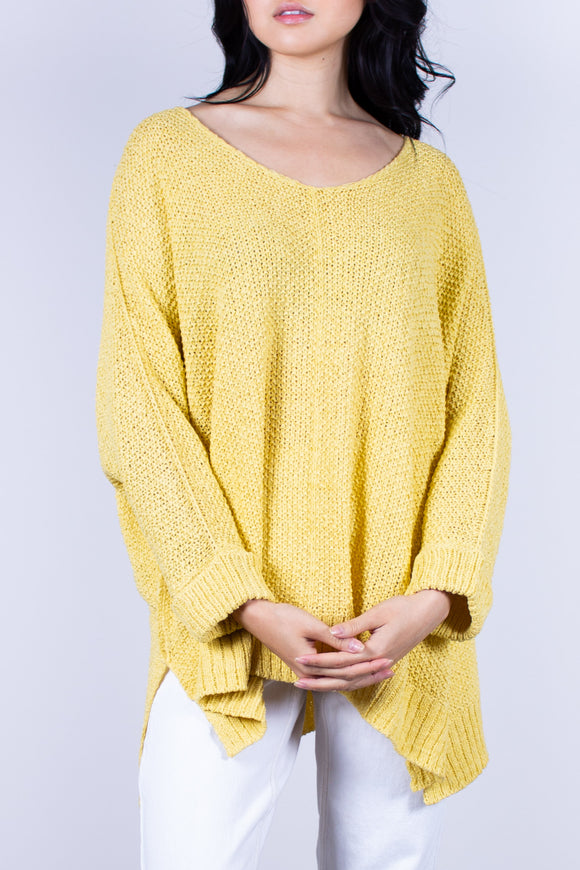 Knit Pullover One Size Available in Salomon and Sunshine Yellow