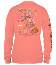 "Load image into Gallery viewer, Simply Southern Youth Long Sleeve ""Fall Favs"""