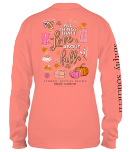 "Simply Southern Youth Long Sleeve ""Fall Favs"""